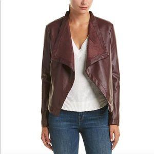 BB Dakota Faux Leather Waterfall style jacket